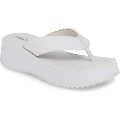 Jeffrey Campbell Diggity Platform Flip Flop- White
