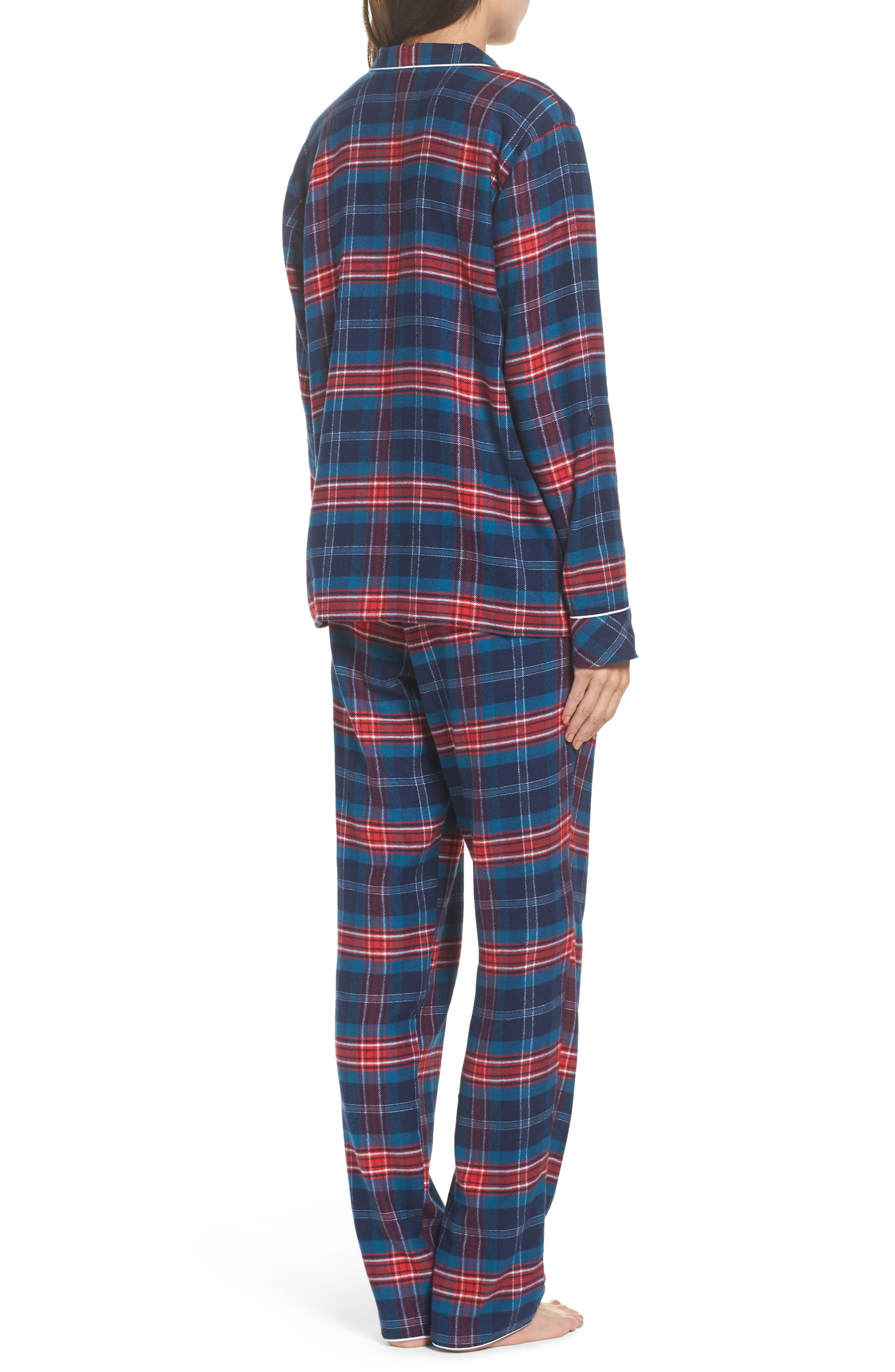 ,                             Lingerie Starlight Flannel Pajamas,                             Alternate thumbnail 42, color,                             400