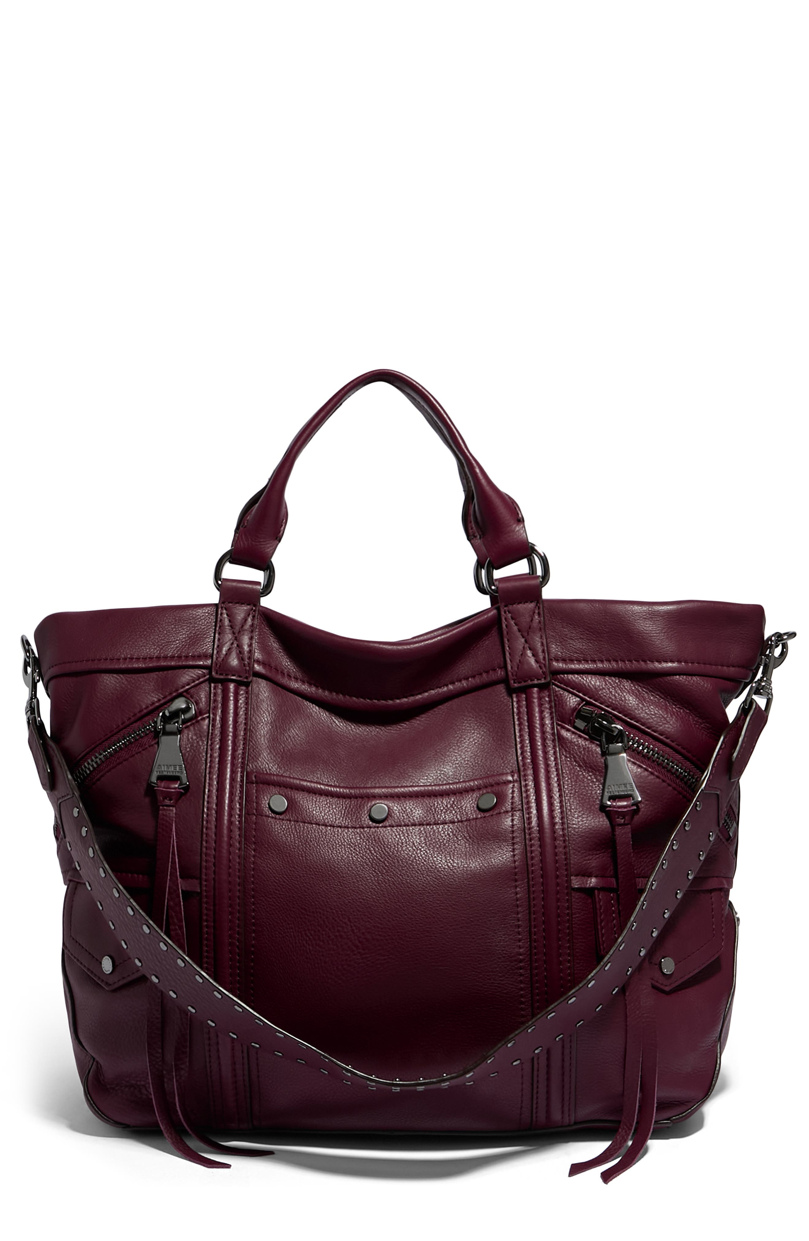 Fair Game Convertible Leather Tote Bag