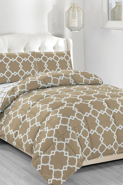 Image of Duck River Textile King Greyson Down Alternative Reversible Comforter Set - Taupe