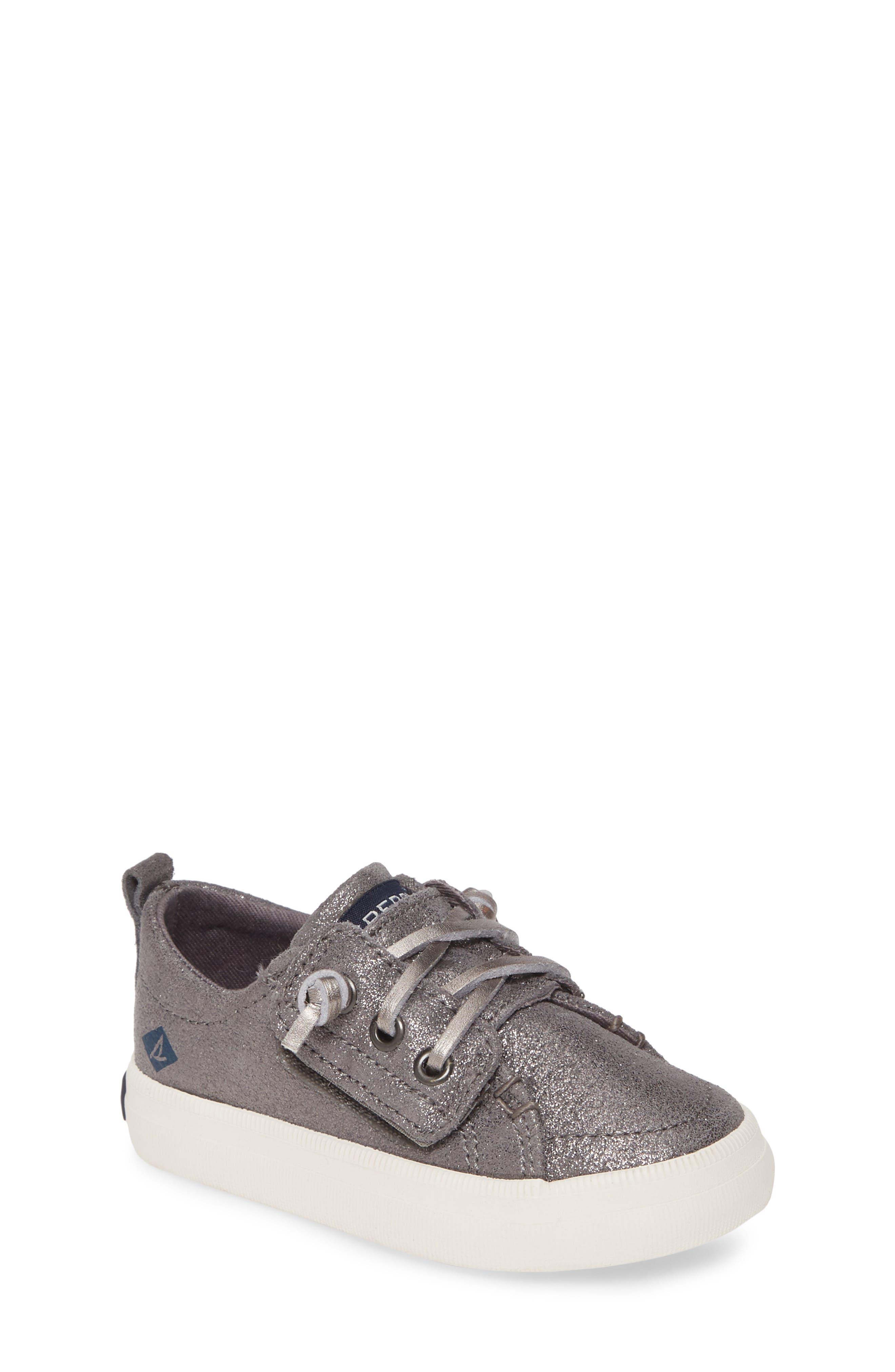 Girls Sperry Crest Vibe Sneaker Size 1 M  Metallic