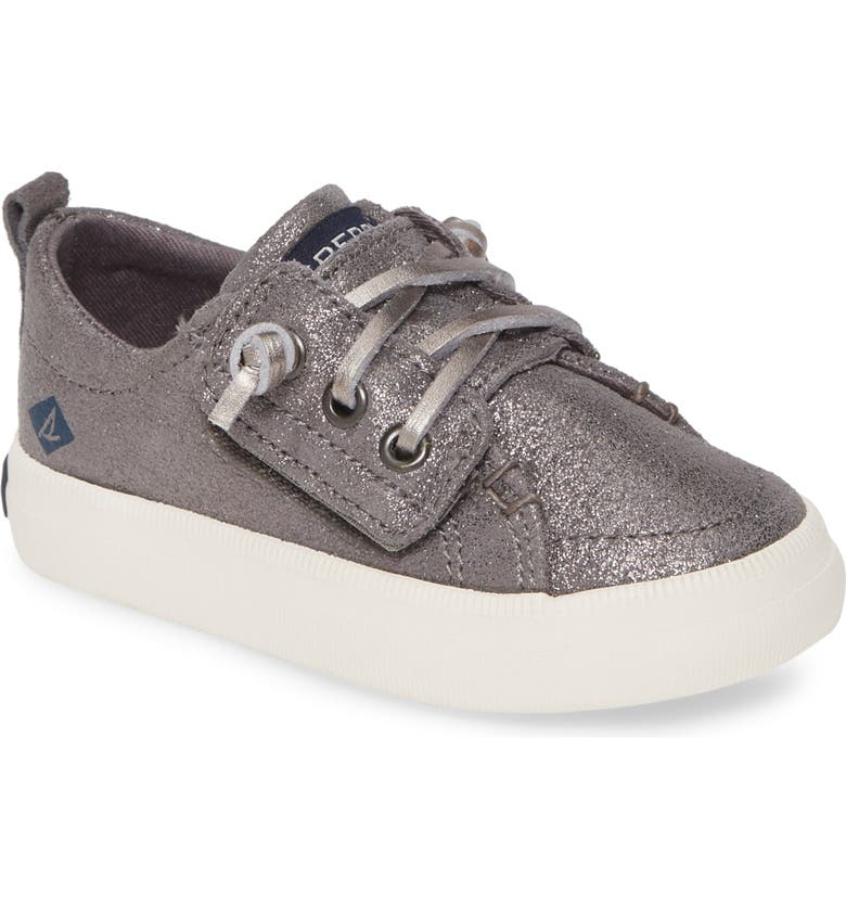 SPERRY KIDS Sperry Crest Vibe Sneaker, Main, color, PEWTER SPARKLE LEATHER