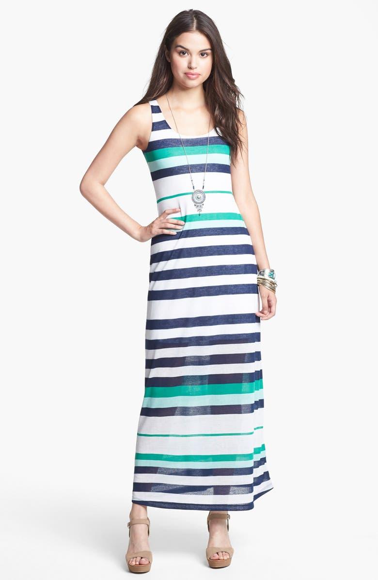 SOPRANO Stripe Knit Maxi Dress, Main, color, 400