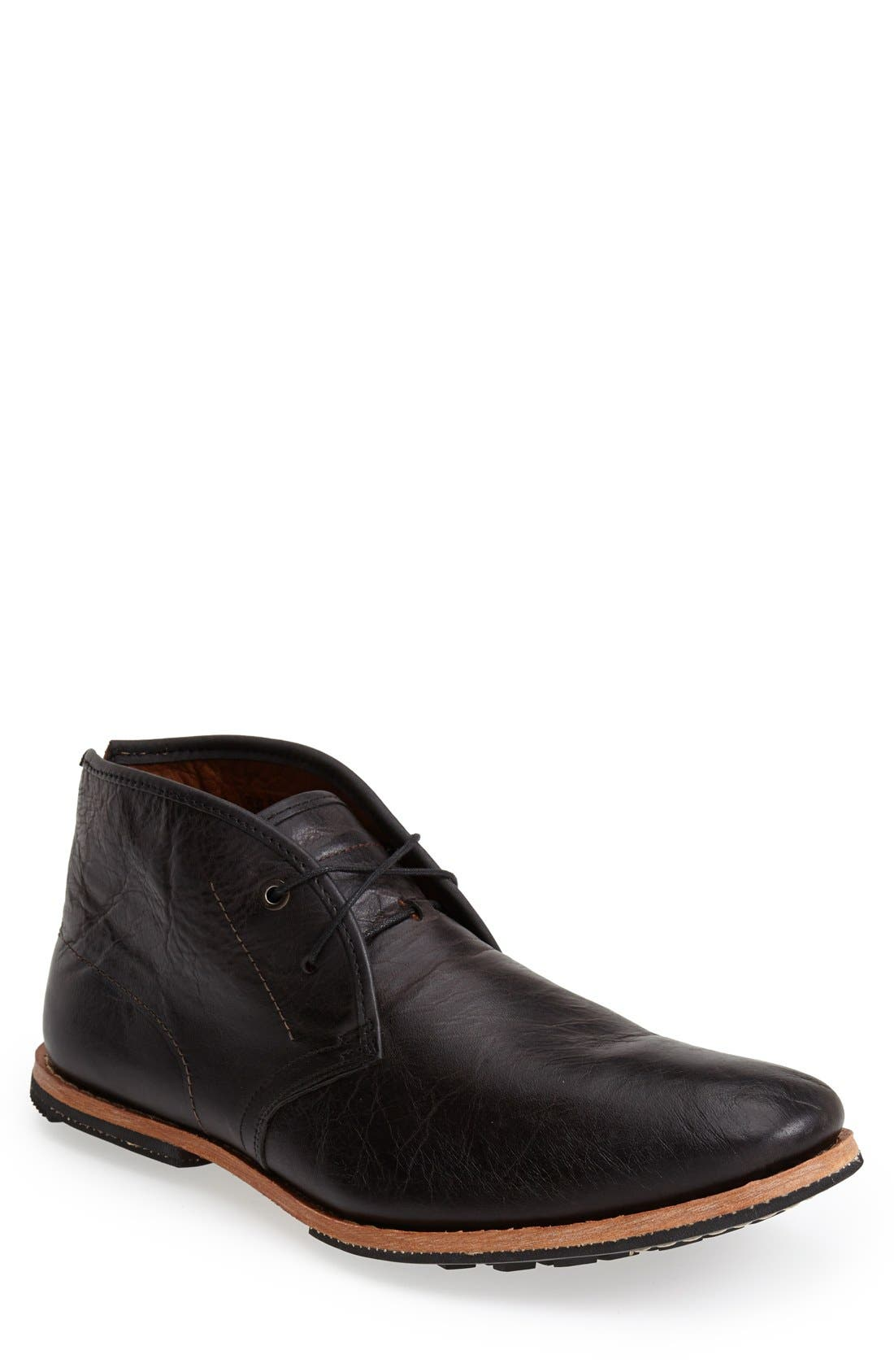Wodehouse History Chukka Boot, Main, color, BLACK LEATHER
