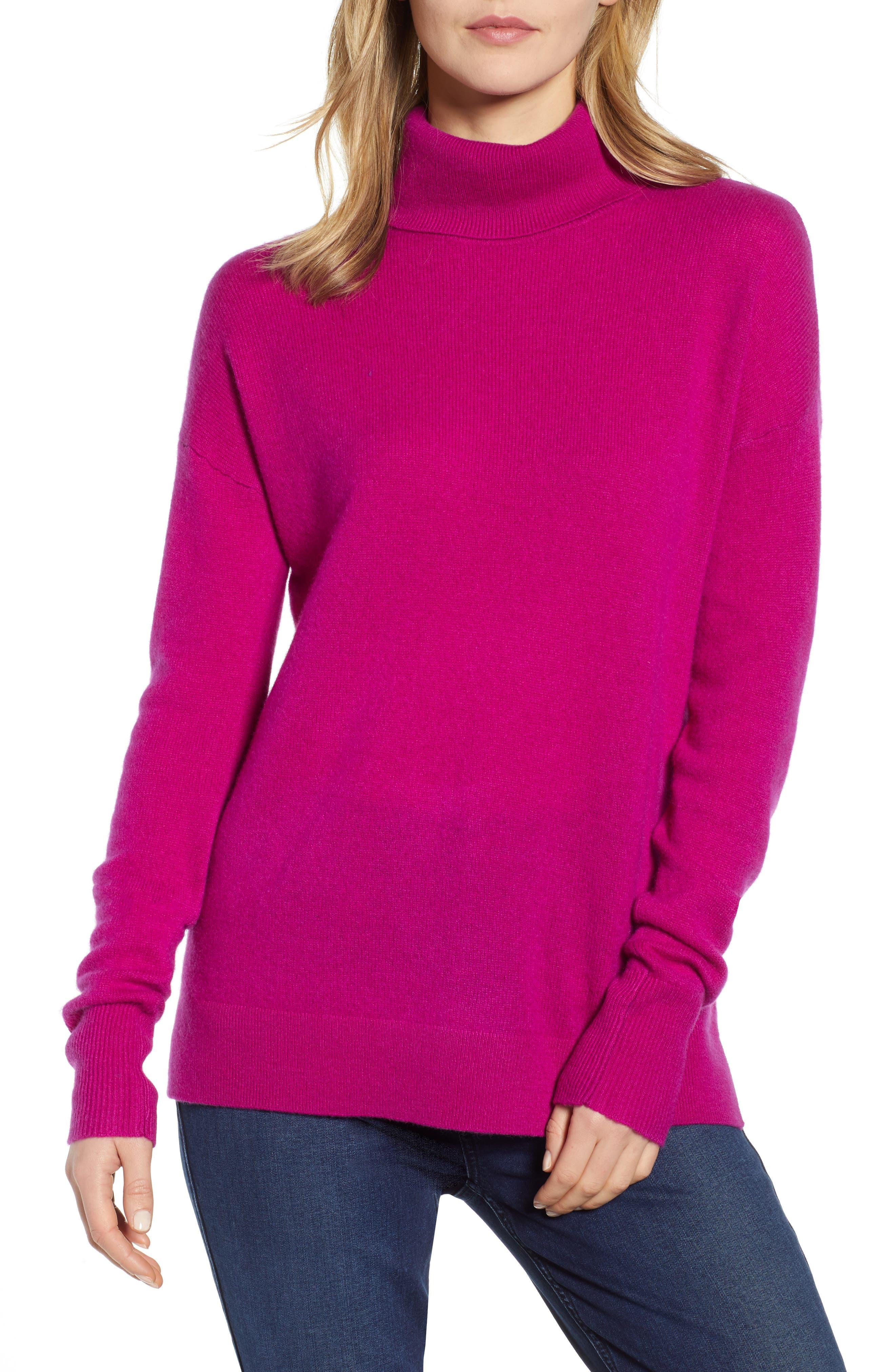 ,                             Cashmere Turtleneck Sweater,                             Main thumbnail 43, color,                             651