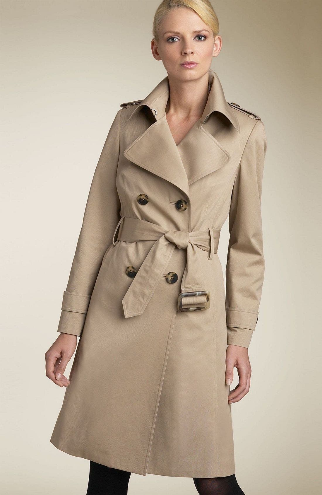 ,                             Belted Trench Coat with Zip Out Liner,                             Main thumbnail 2, color,                             KHA