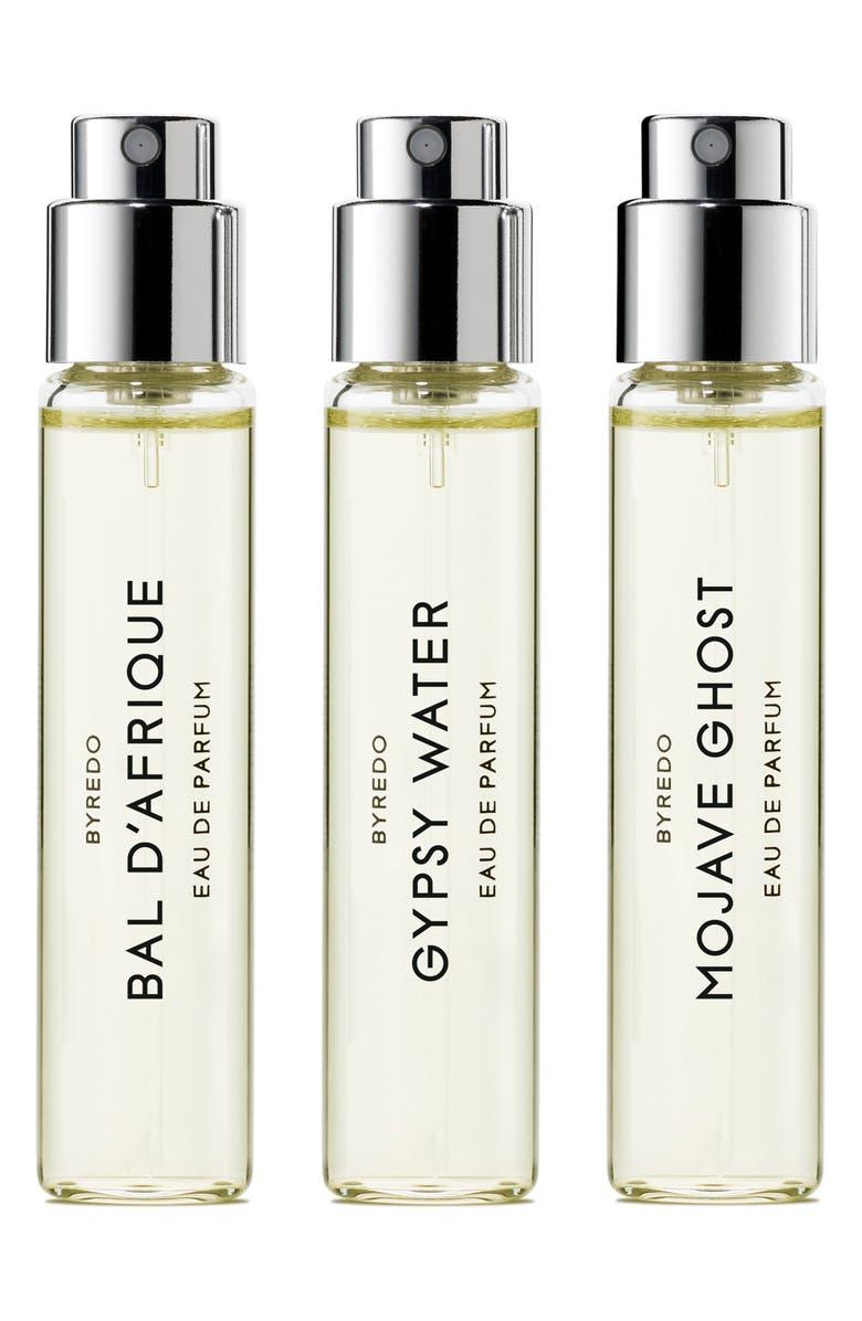 BYREDO La Sélection Anniversaire Eau de Parfum Trio, Main, color, 000