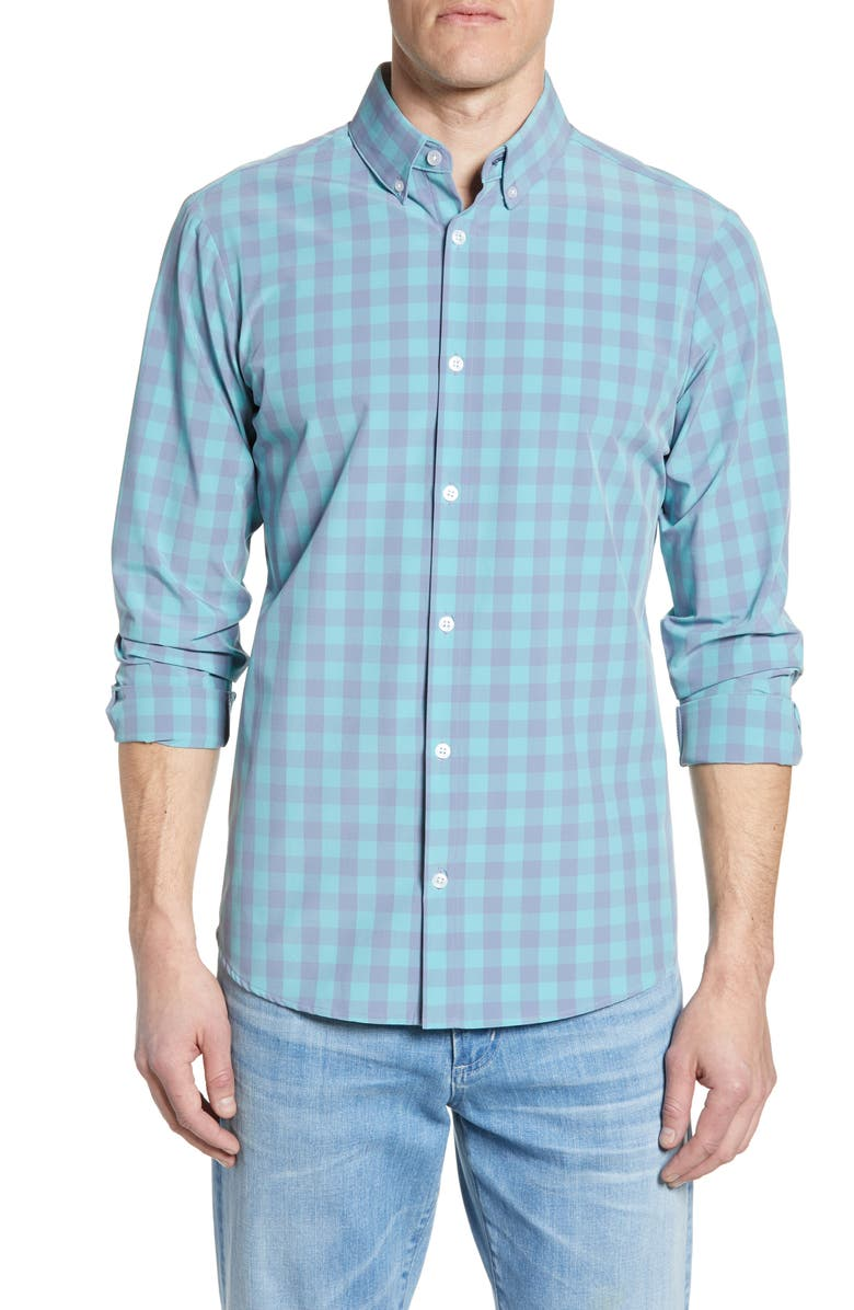 Soyer Trim Fit Check Performance Sport Shirt by Mizzen+Main
