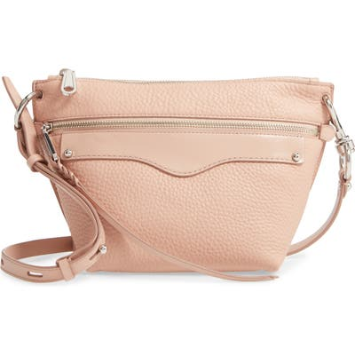Rebecca Minkoff Hayden Leather Crossbody Bag - Beige