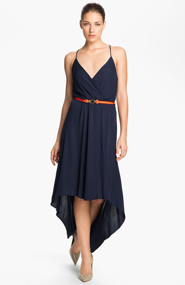 MILLY High/Low Maxi Dress, Main, color, 410