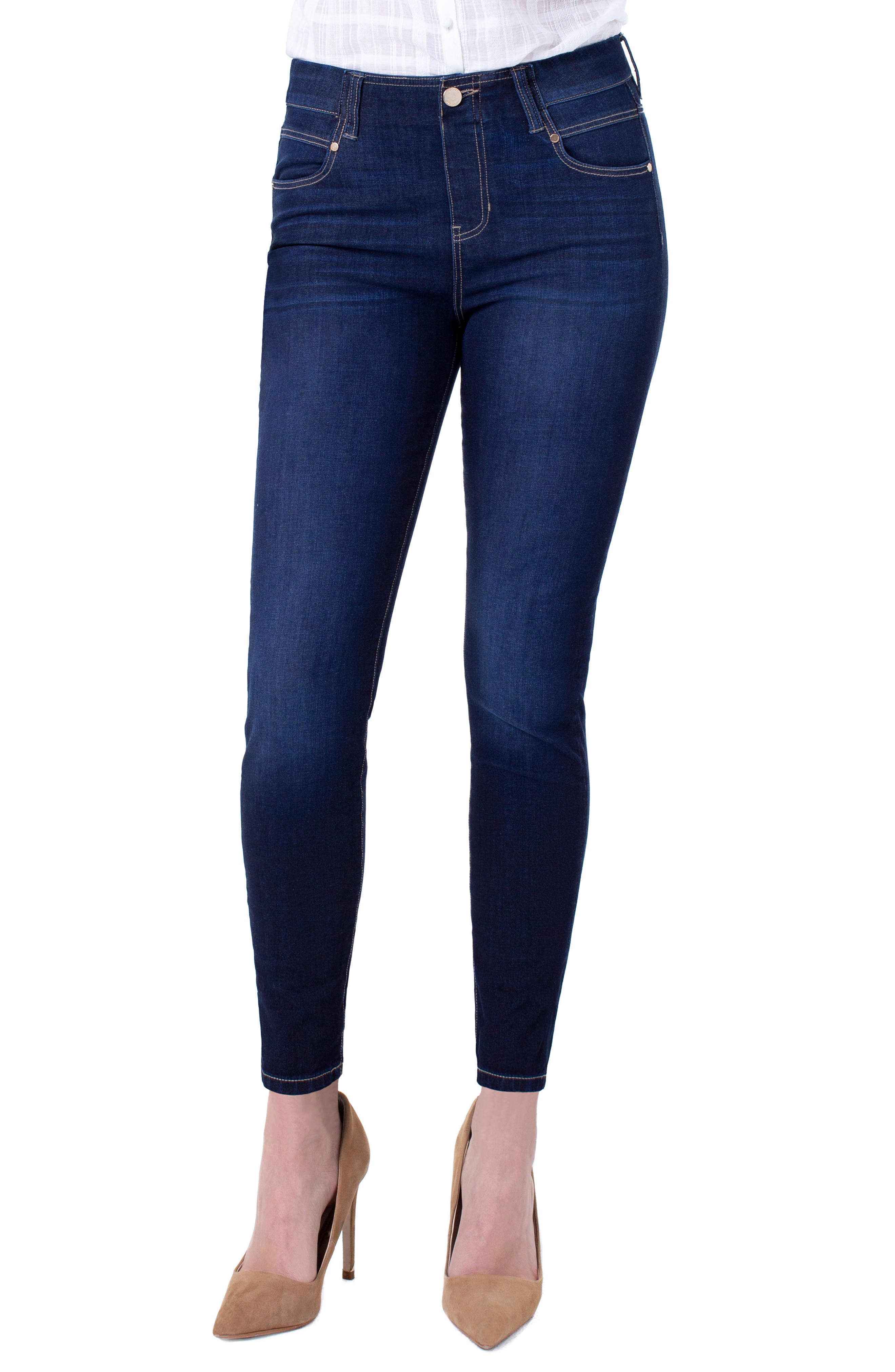 Gia Glider Pull-On Skinny Jeans