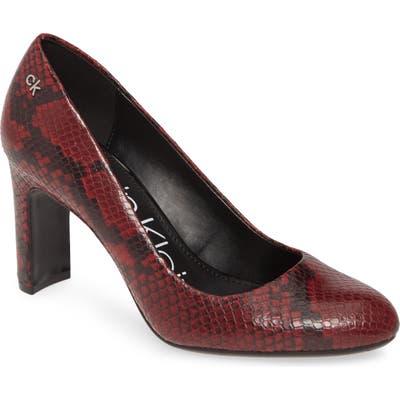 Calvin Klein Octavia Block Heel, Burgundy