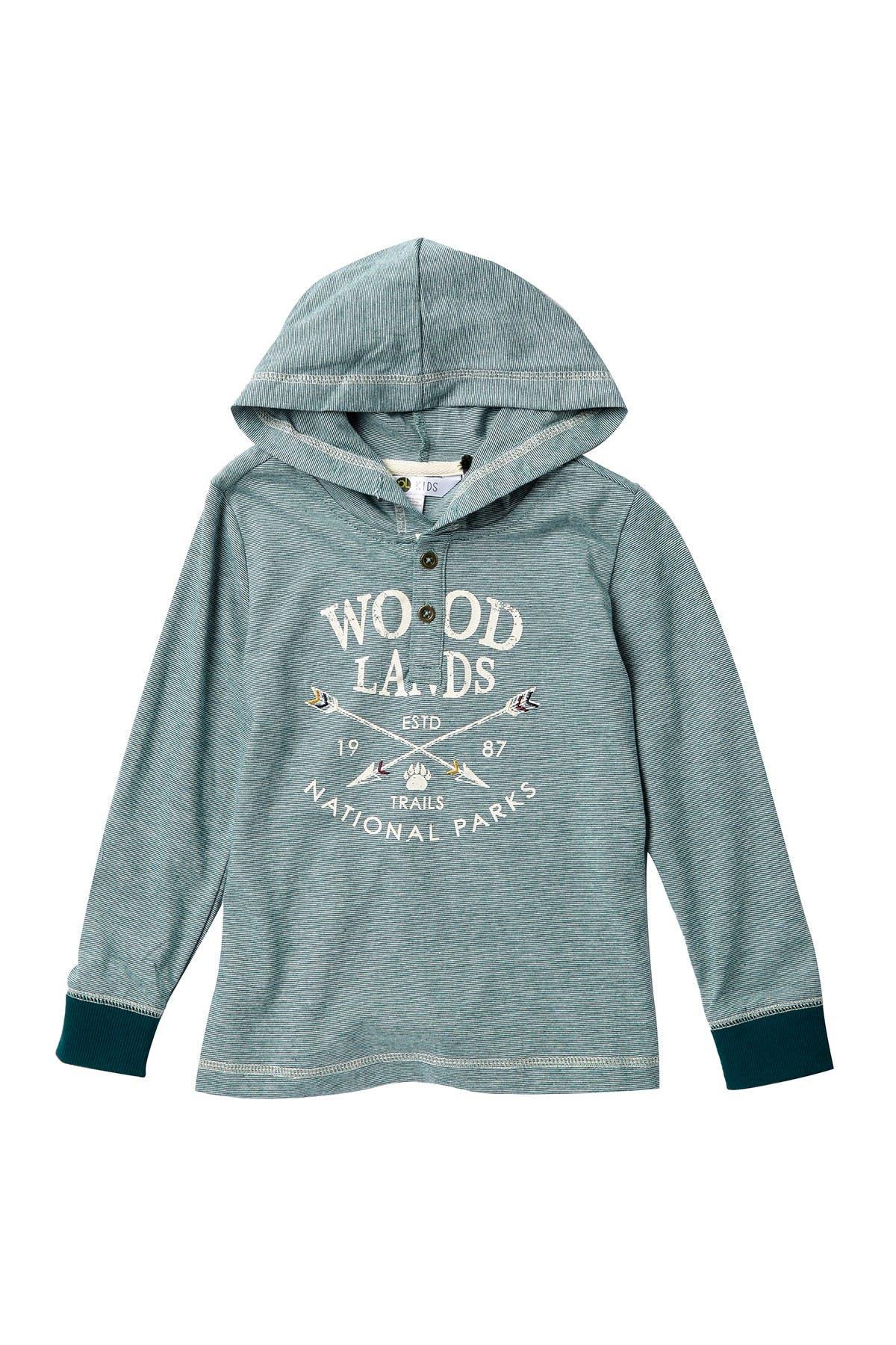 Image of Petit Lem Knit Hooded Sweatshirt