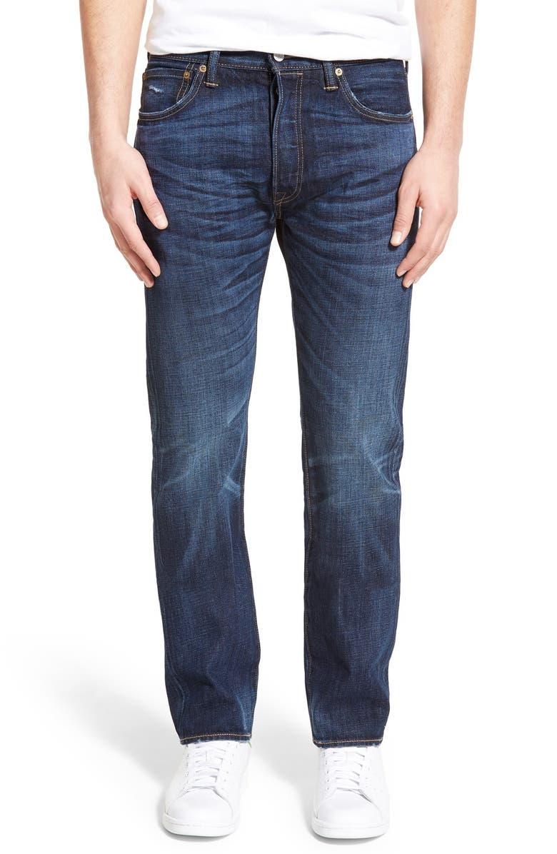 LEVI'S<SUP>®</SUP> '501 Original<sup>™</sup>' Straight Leg Jeans, Main, color, 400