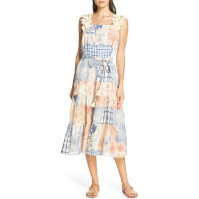 Tory Burch Patchwork Toile Cover-Up Dress, Ivory