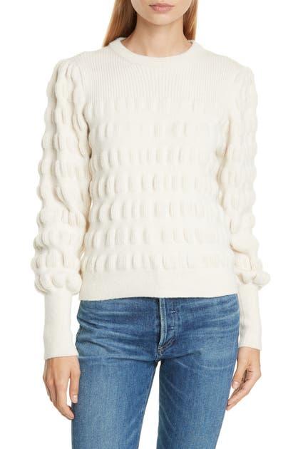 Eleven Six Aimee Textured Alpaca & Merino Wool Blend Sweater In Ivory
