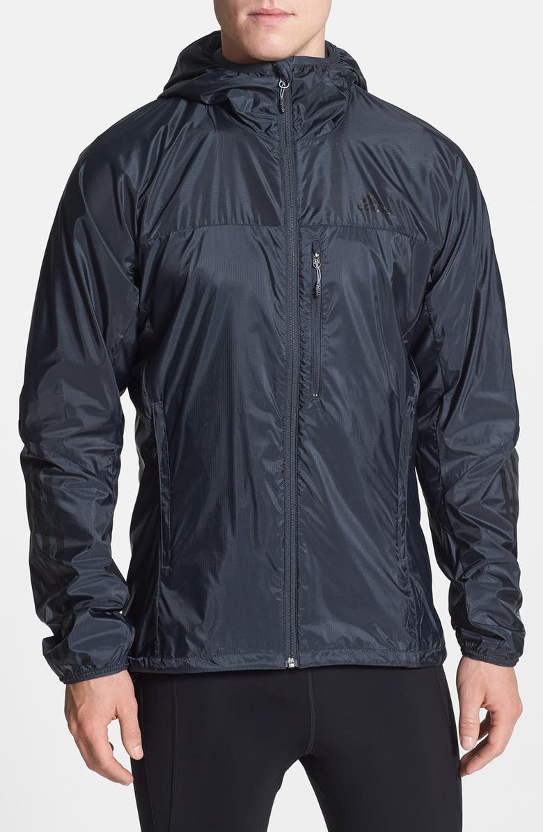 'Terrex - Swift Wind' CLIMAPROOF® Hooded Wind & Water-Resistant Jacket