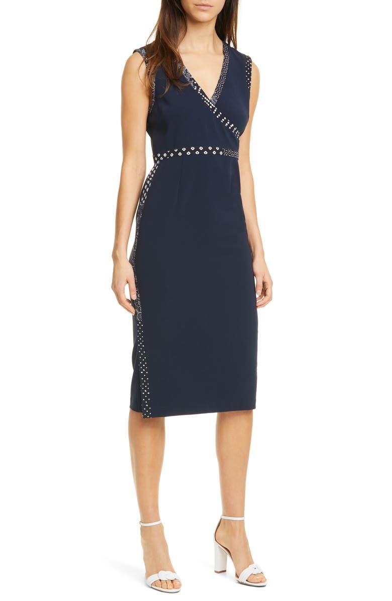 DVF Anissa Sheath Dress, Main, color, 460