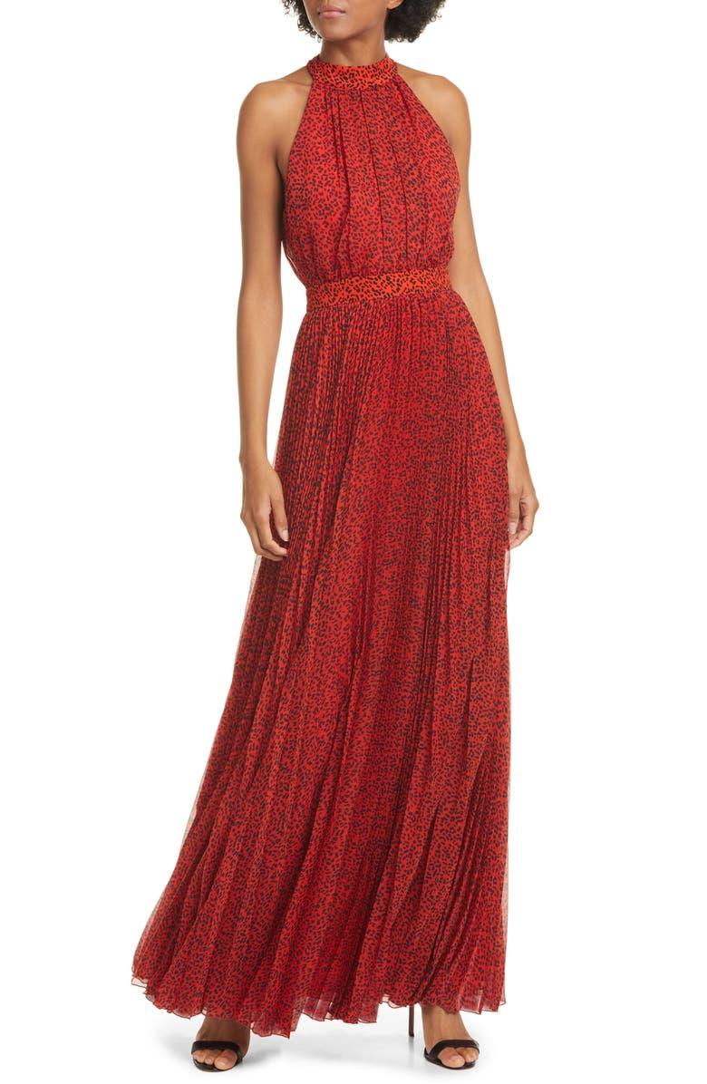 Kelissa Halter Print Maxi Dress