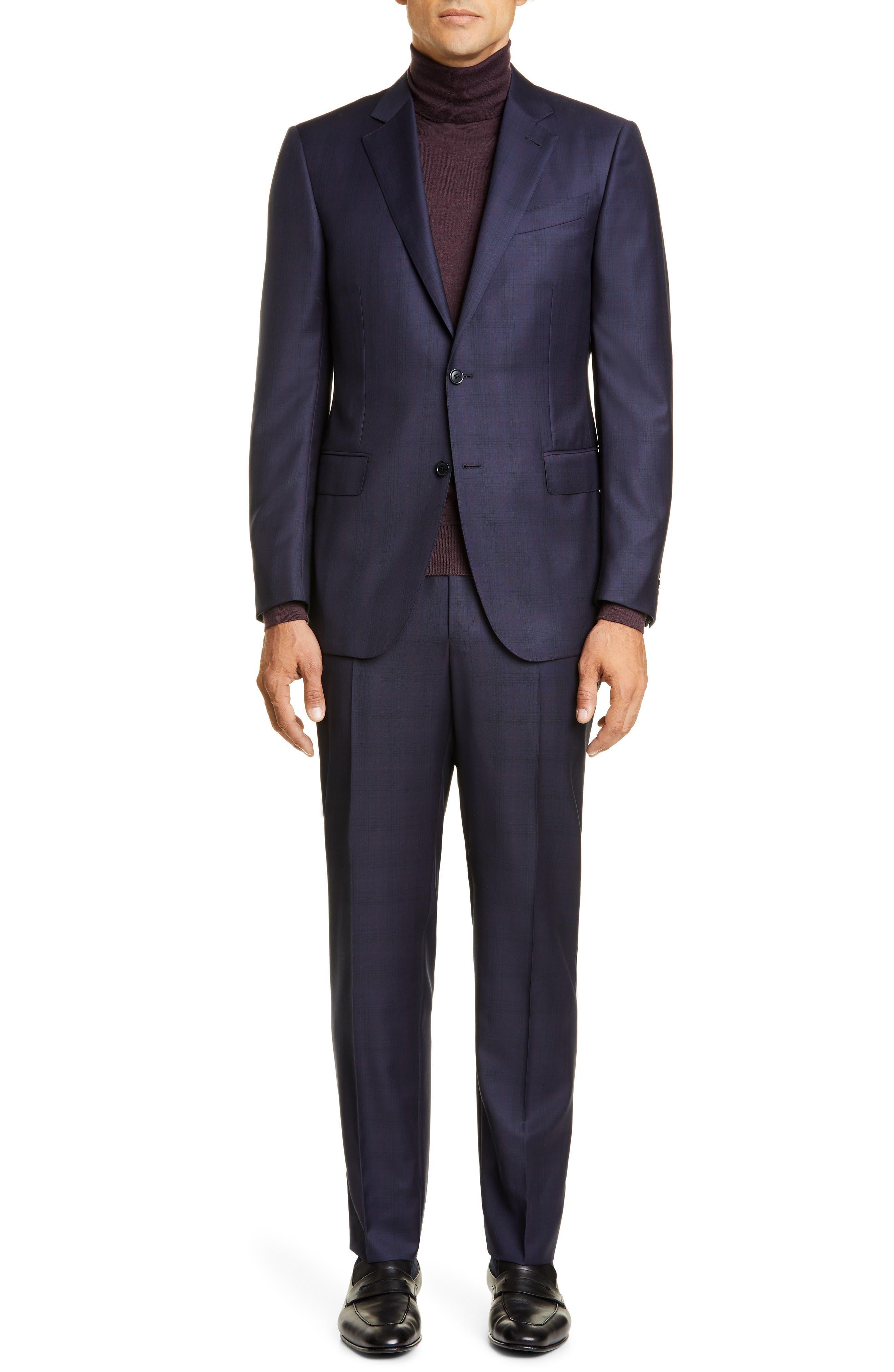 Ermenegildo Zegna Suits Classic Fit Plaid Wool Suit