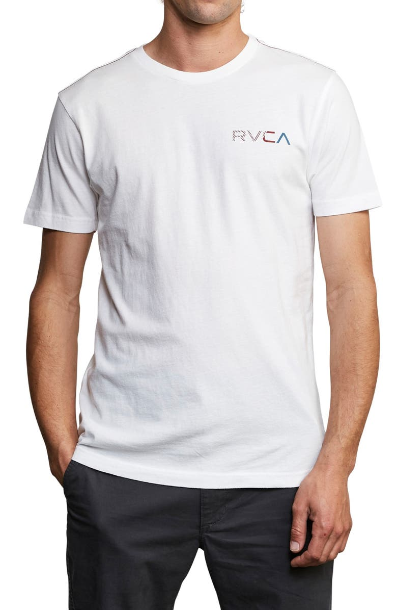 RVCA Blind Motors Logo T-Shirt, Main, color, 181