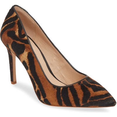 Louise Et Cie Hanabeth Genuine Calf Hair Pump, Brown