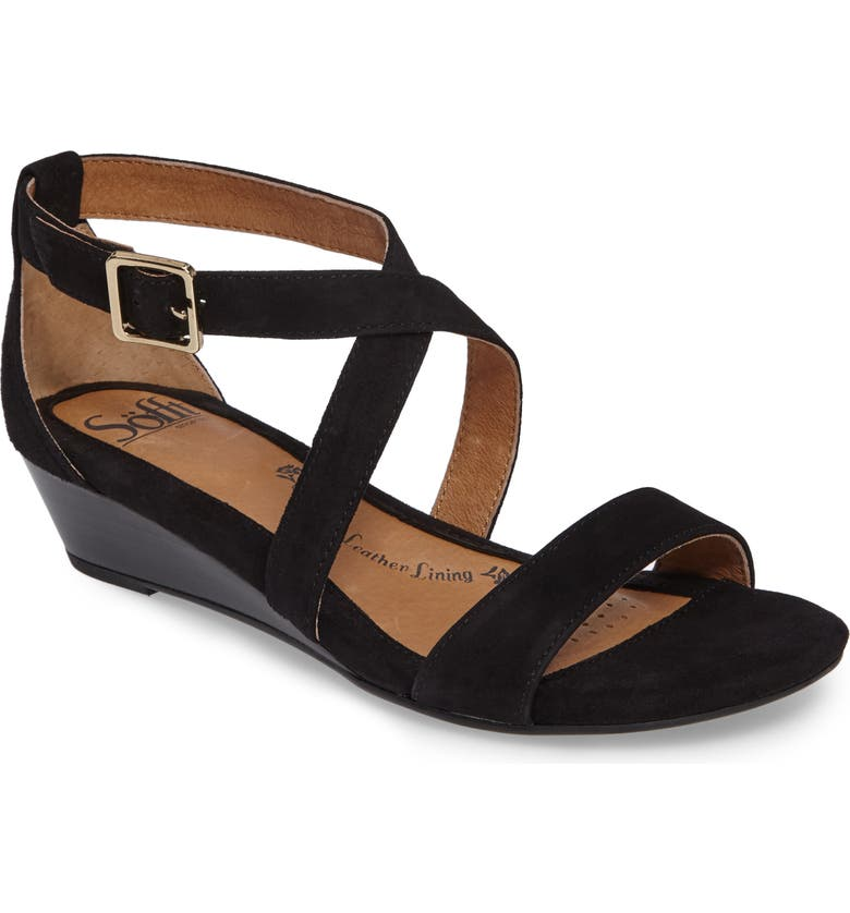 SÖFFT 'Innis' Low Wedge Sandal, Main, color, 002