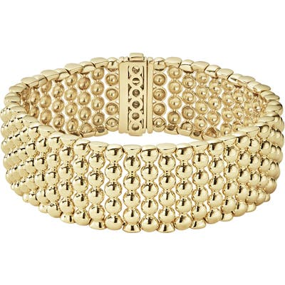 Lagos Caviar Gold Bold Wide Rope Bracelet
