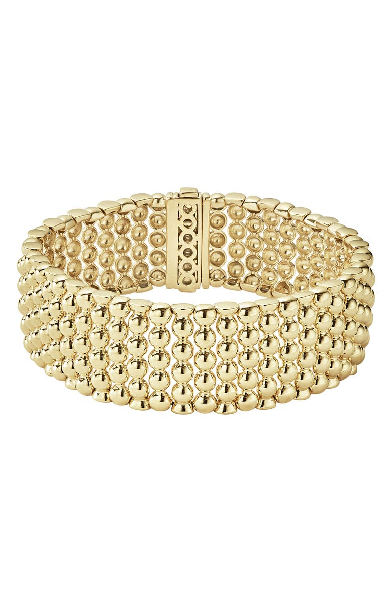 LAGOS Caviar Gold Bold Wide Rope Bracelet, Main, color, 710