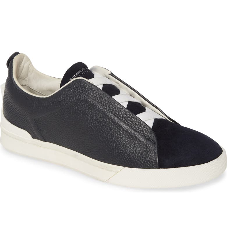 ERMENEGILDO ZEGNA Slip-On Sneaker, Main, color, BLACK/ NAVY