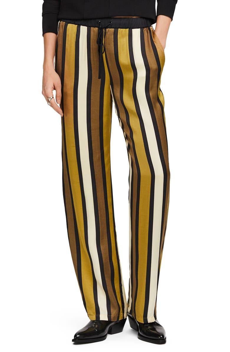 SCOTCH & SODA Stripe Wide Leg Pants, Main, color, COMBO C