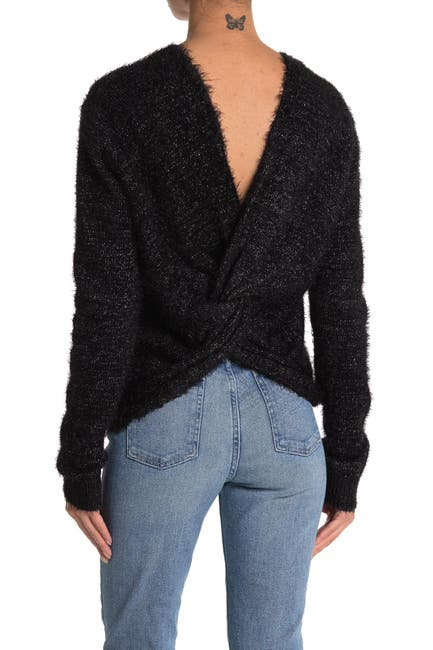 Image of Do + Be Twist Back Knit Sweater