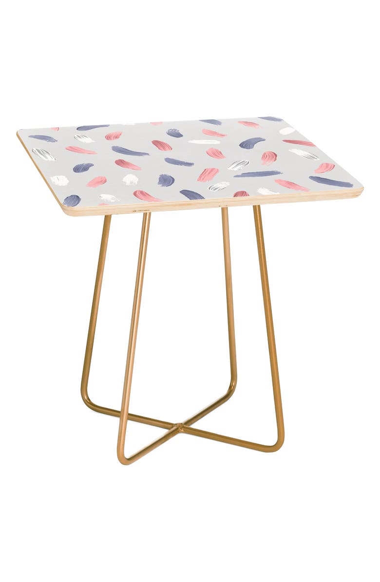 DENY DESIGNS Pastel Side Table, Main, color, PINK