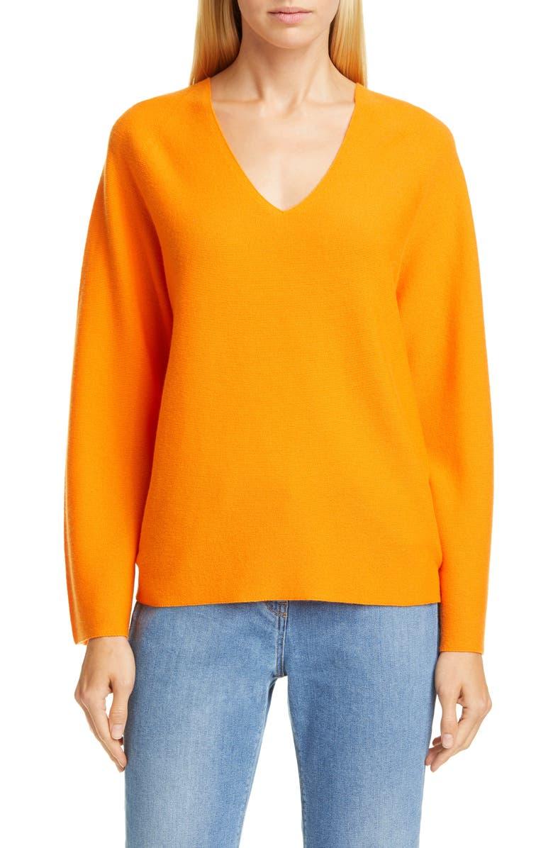 FABIANA FILIPPI Wide Sleeve Cashmere Sweater, Main, color, ORANGE
