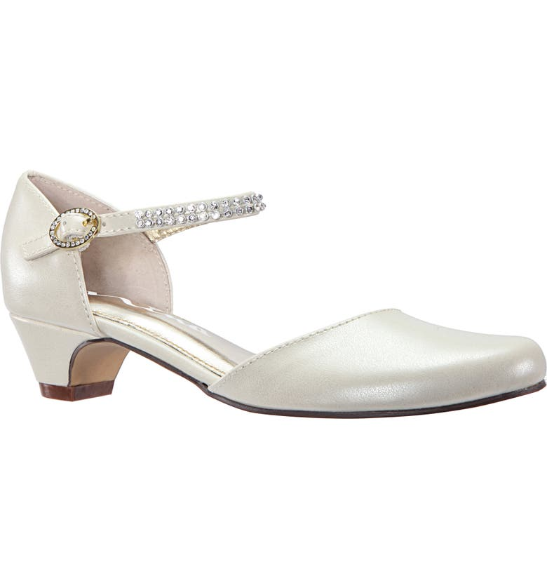 NINA Cera Low Embellished Pump, Main, color, BONE PEARLESCENT