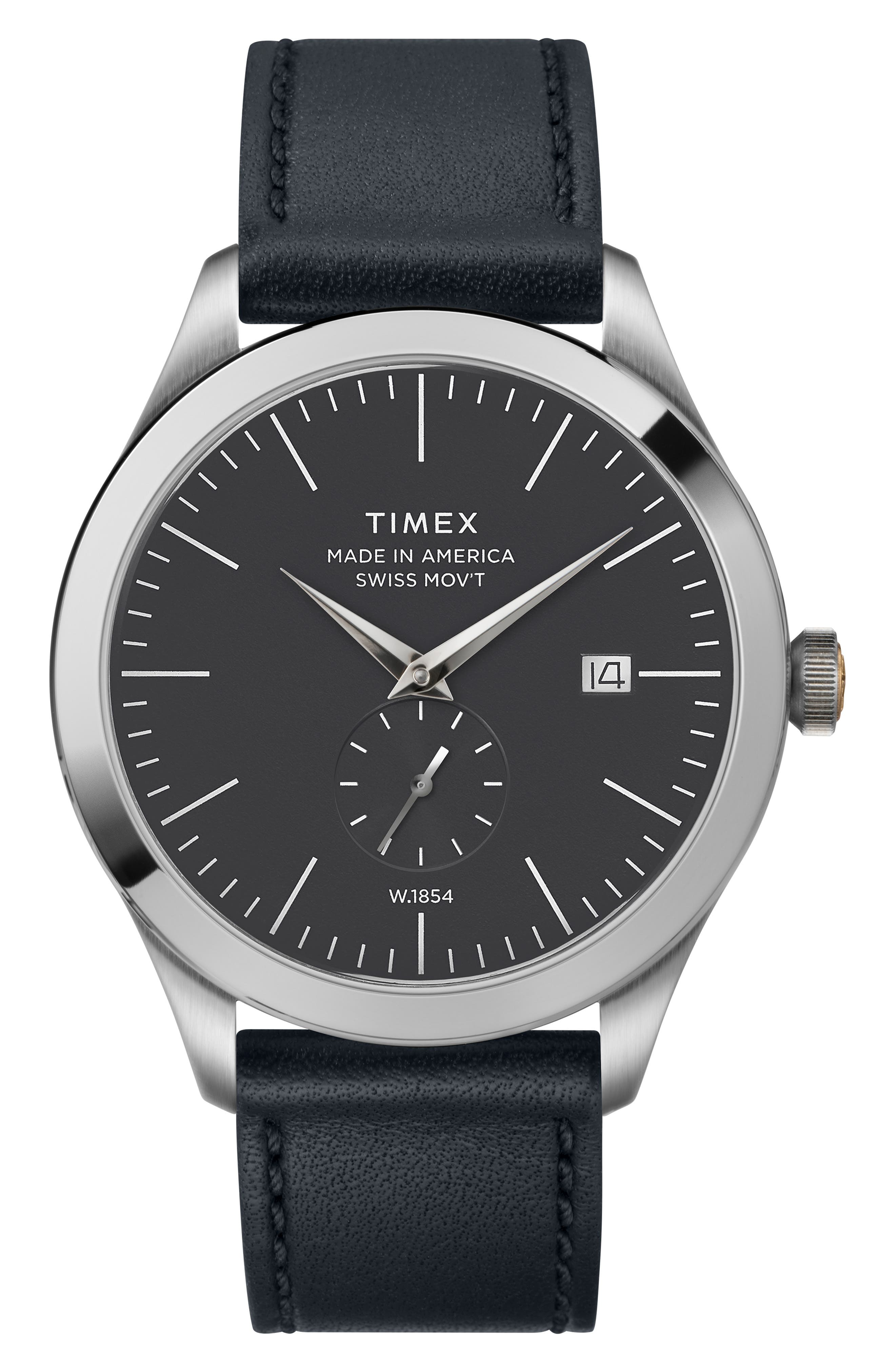 UPC 753048833290 product image for Timex American Documentation Leather Strap Watch, 41Mm | upcitemdb.com