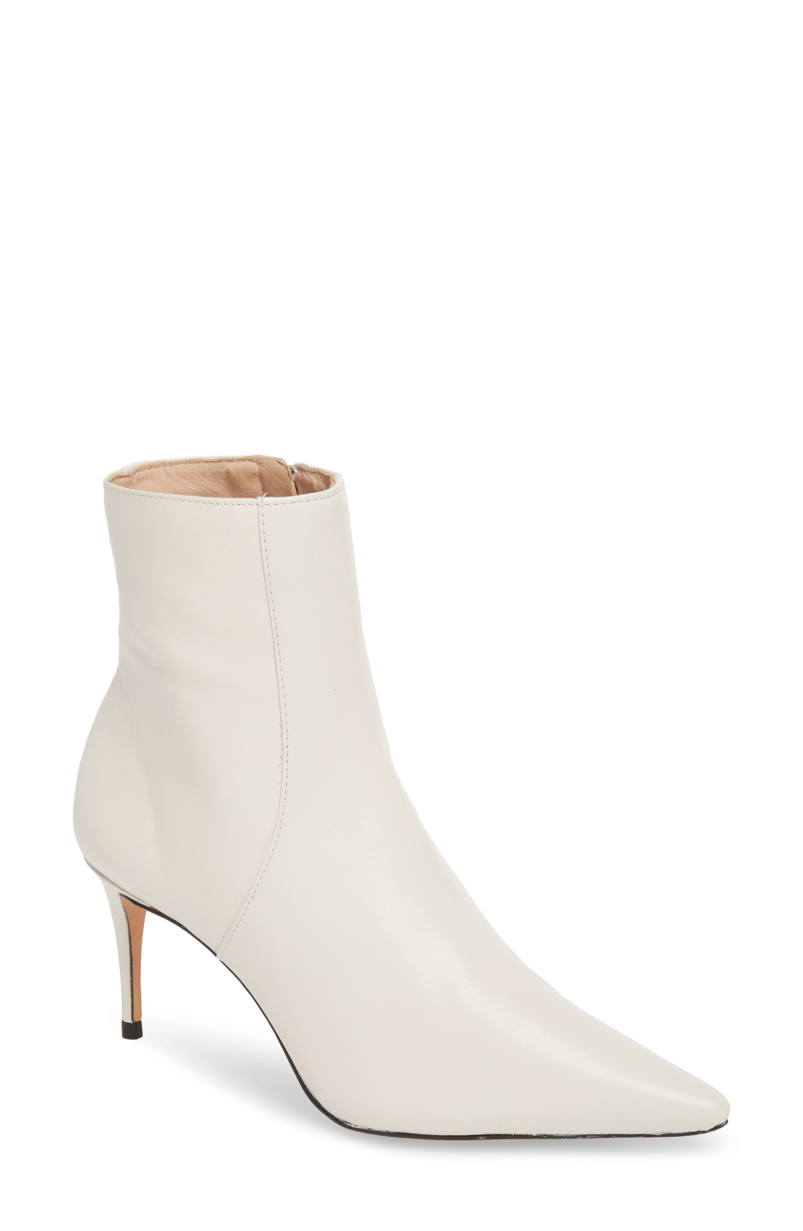 A pointy-toe bootie made with a cushioned footbed is lofted by a svelte heel. Style Name: Schutz Bette Bootie (Women). Style Number: 5430274 5. Available in stores.