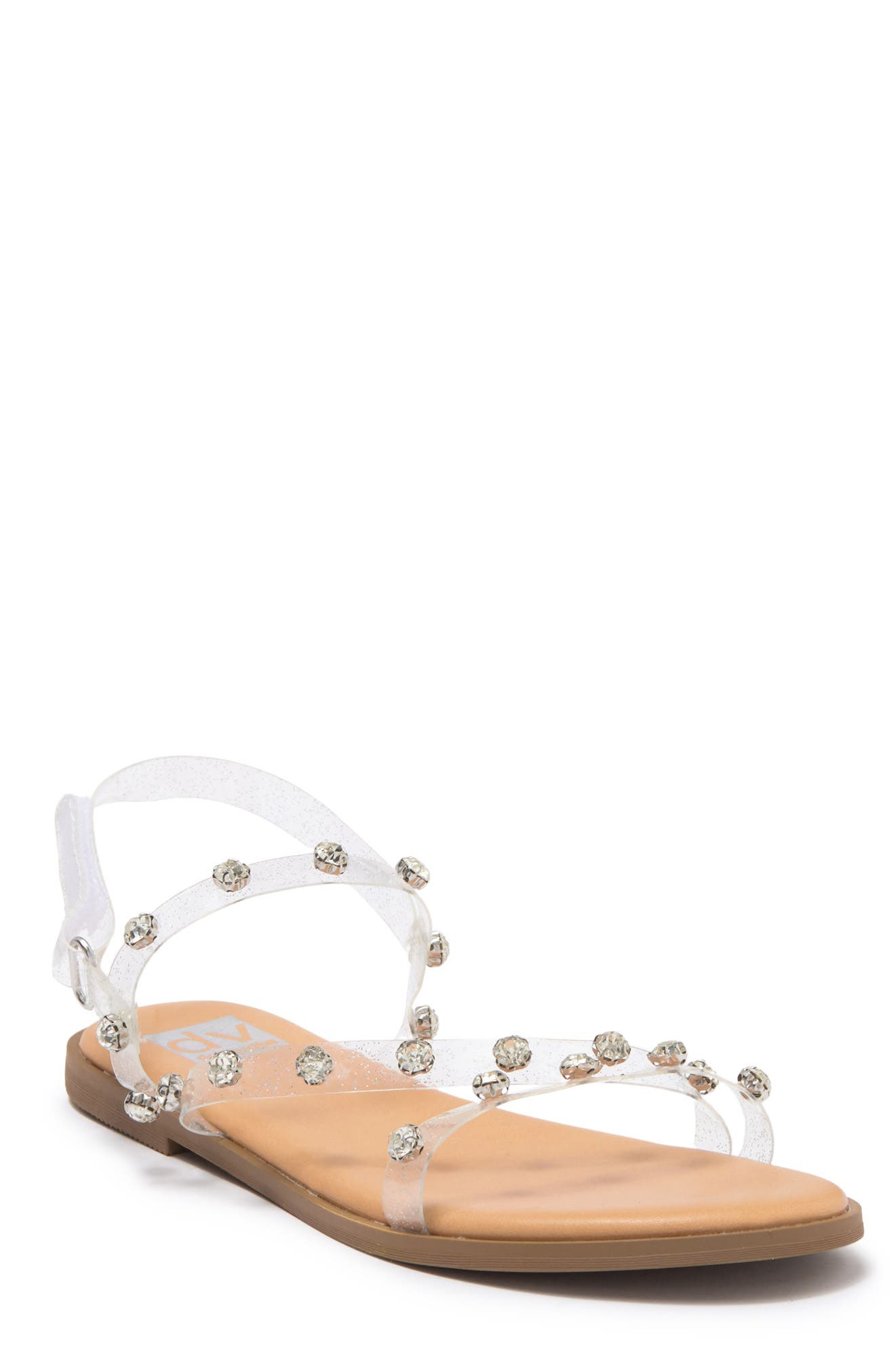 Image of Dolce Vita Taby Crystal Embellished Clear Sandal