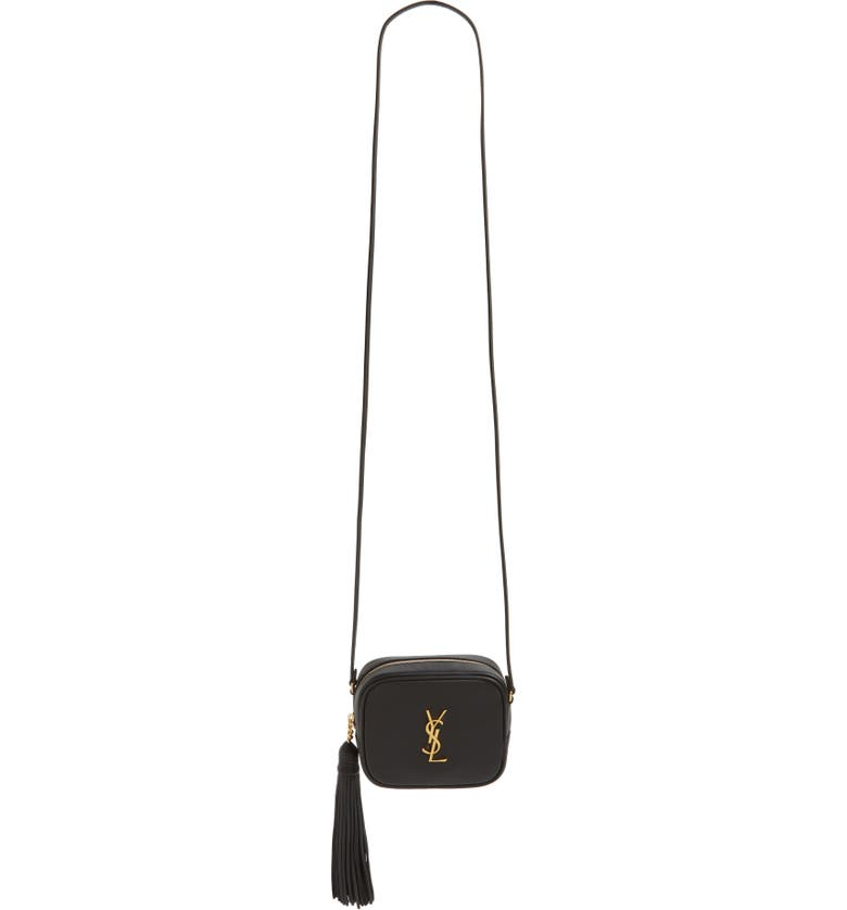 SAINT LAURENT 'Monogram Mini Blogger' Crossbody Bag, Main, color, 001
