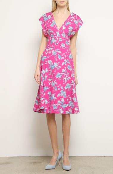 Leaf Print Stretch Cotton Dress, video thumbnail