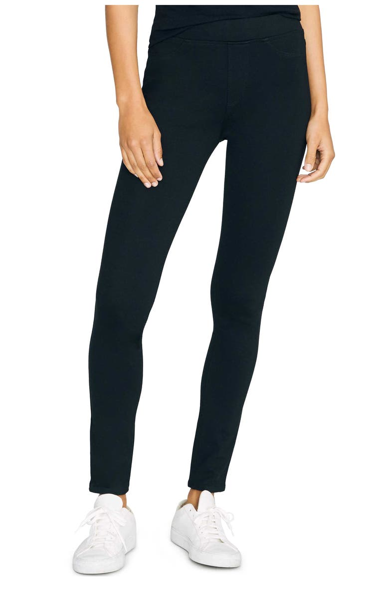 SANCTUARY Runway Leggings, Main, color, BLACK