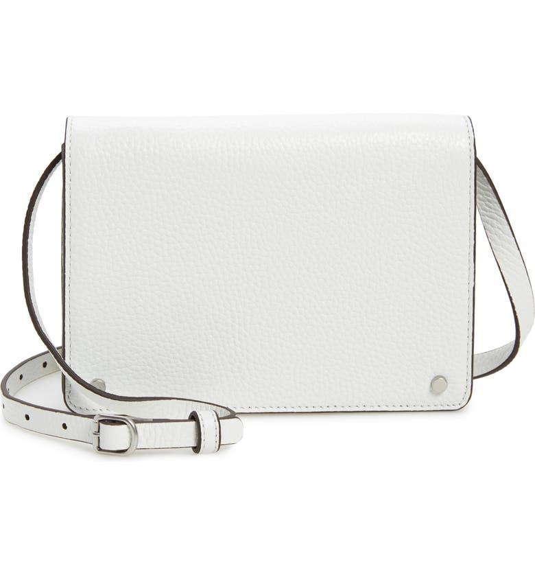 TREASURE & BOND Lex Leather Crossbody Bag, Main, color, WHITE