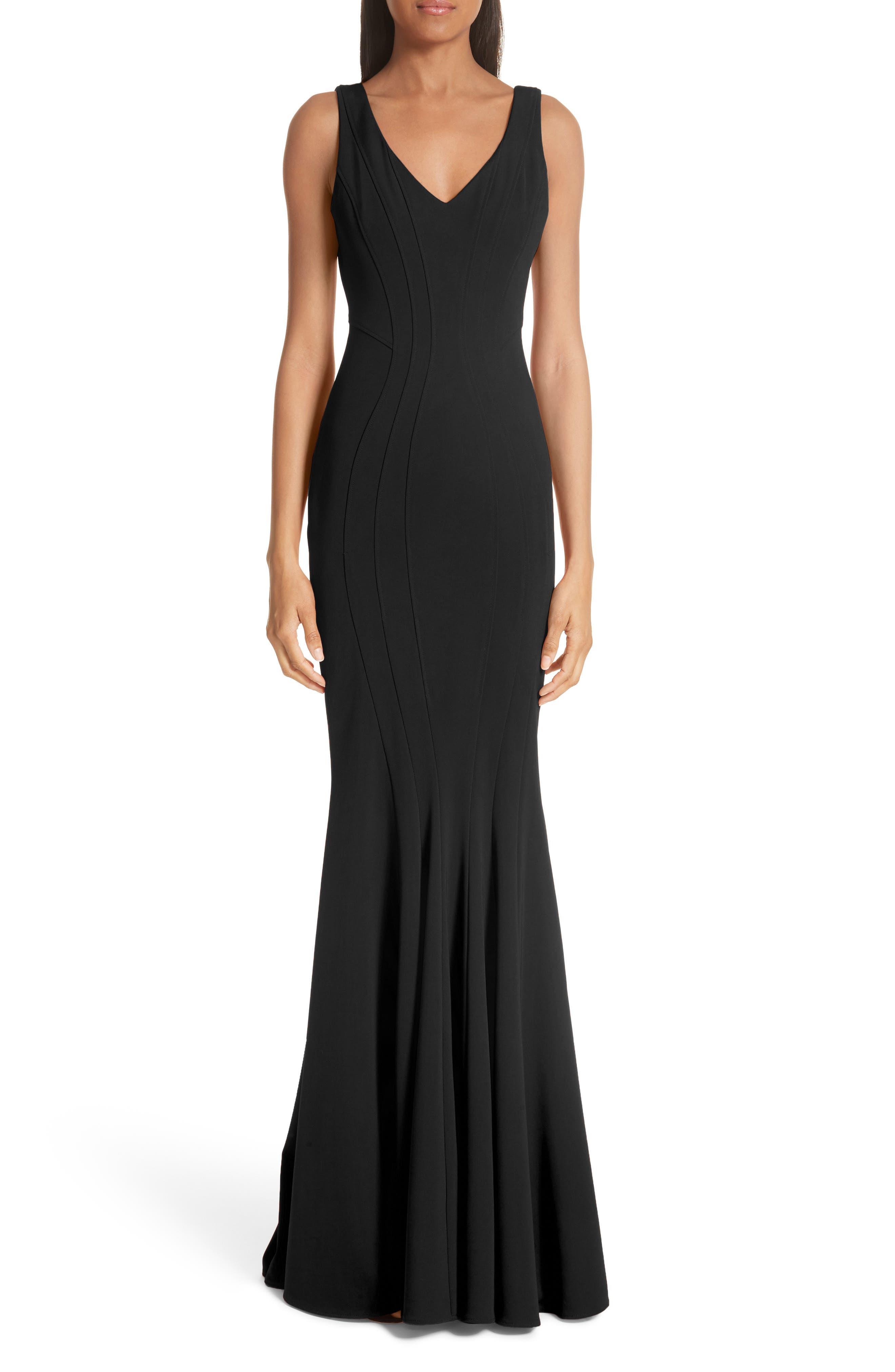 Zac Zac Posen Ronnie Mermaid Gown, Black