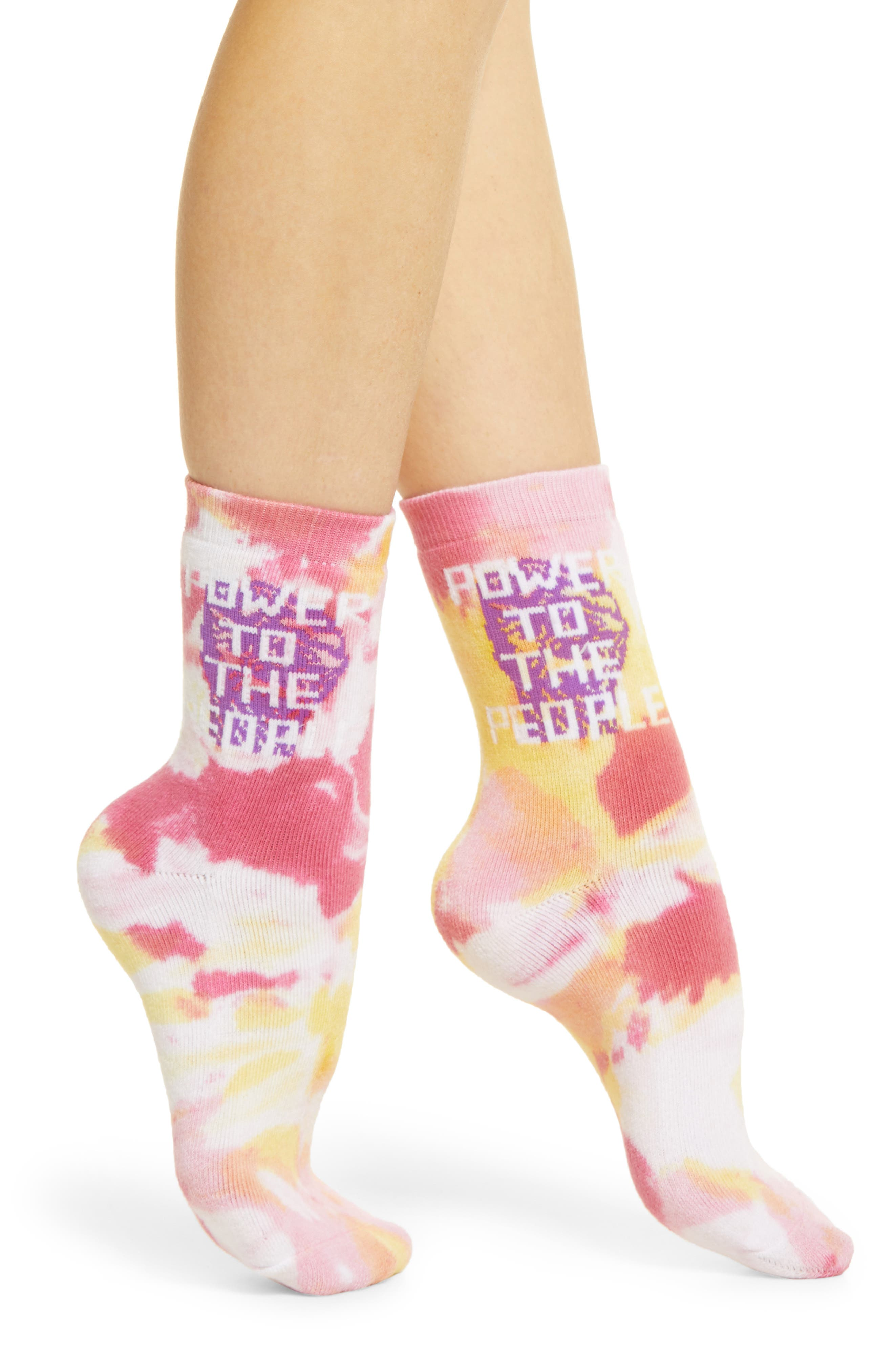 Power To The People Crew Socks