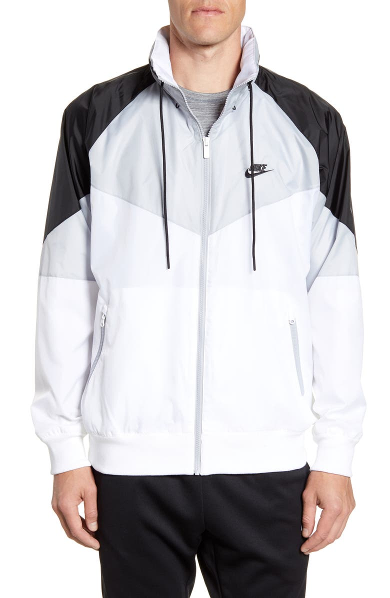 NIKE Windrunner Jacket, Main, color, WHITE/ WOLF GREY/ BLACK/ BLACK