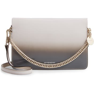 Givenchy Cross 3 Degrade Leather Crossbody Bag - Grey