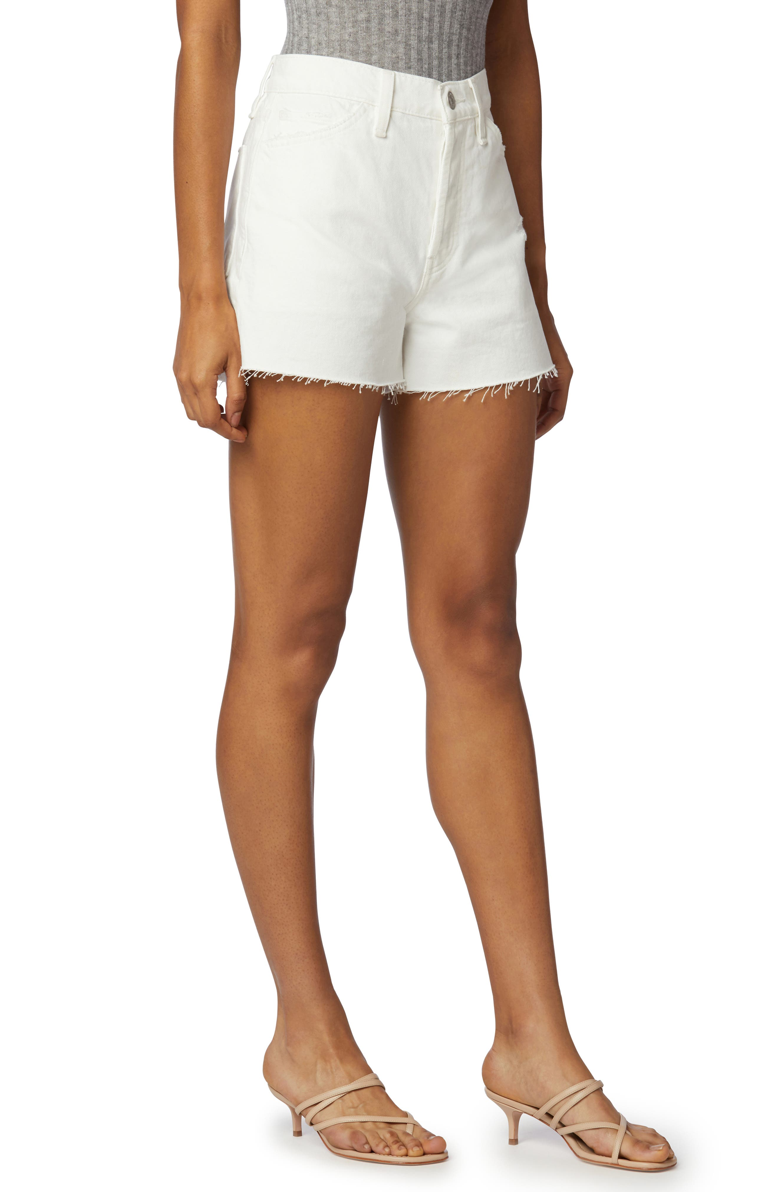 Lori High Waist Cutoff Denim Shorts