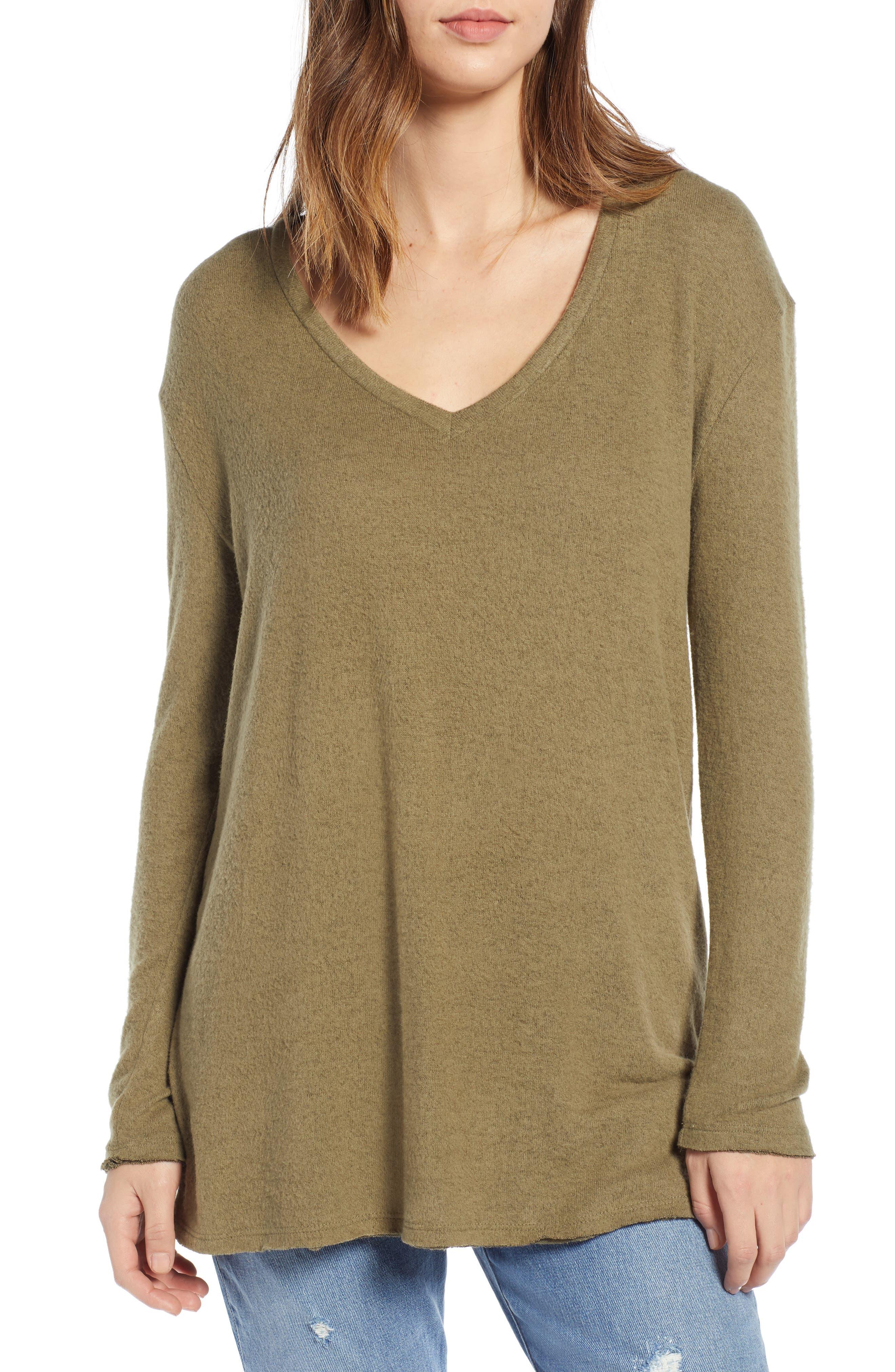 ,                             Cozy V-Neck Sweater,                             Main thumbnail 12, color,                             301