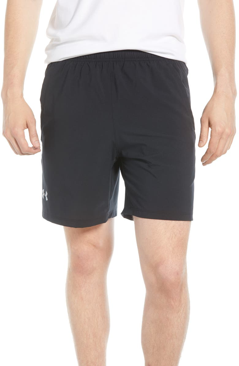 UNDER ARMOUR Siphon Performance Athletic Shorts, Main, color, 001