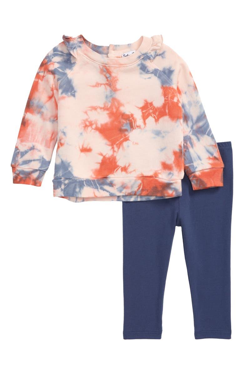 SPLENDID Tie Dye Sweatshirt & Leggings Set, Main, color, 422
